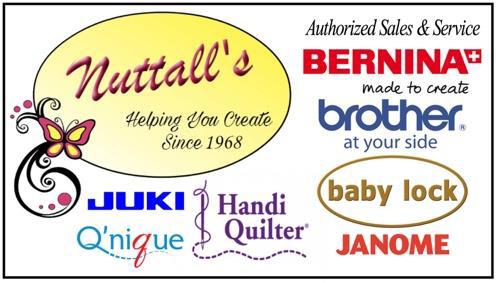 Logo Nuttals Sewing Center